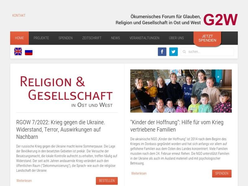 Screenshot von http://www.g2w.eu