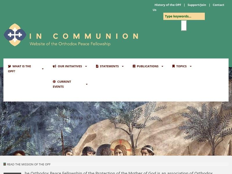 Screenshot von http://www.incommunion.org